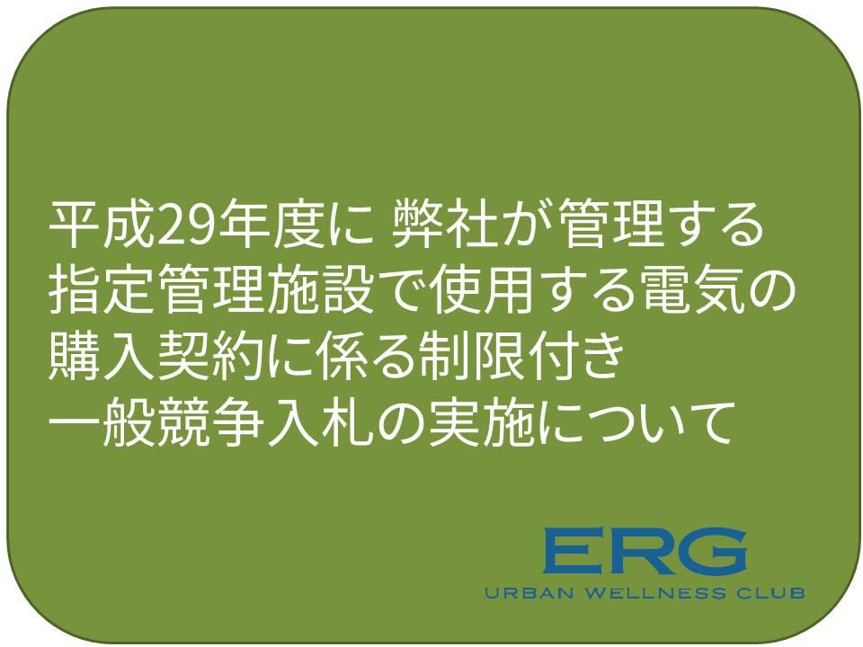 平成29年度に指定管理施設で使用する電気の購入契約に係る制限付き一般競争入札について